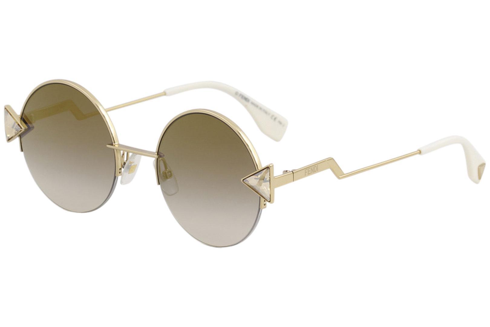 5320eb999290 Fendi Women s FF0243S FF 0243 S Fashion Round Sunglasses