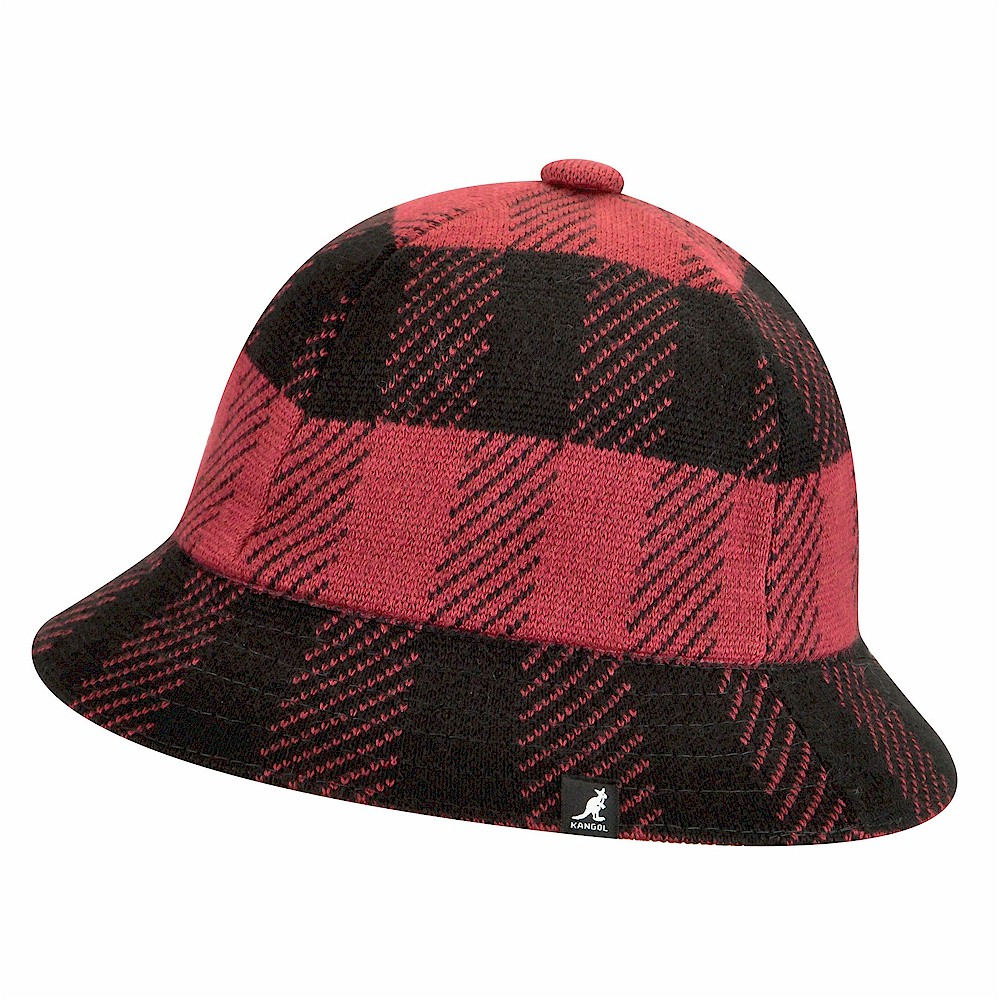 ee0aaf3dea6 Kangol Men s Frontier Casual Fashion Check Bucket Hat