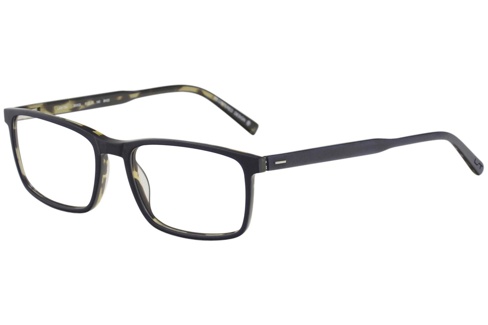 Image of Morel Men's Eyeglasses Lightec 30002L 30002/L Full Rim Optical Frame - Blue   BM20 - Lens 53 Bridge 17 Temple 140mm
