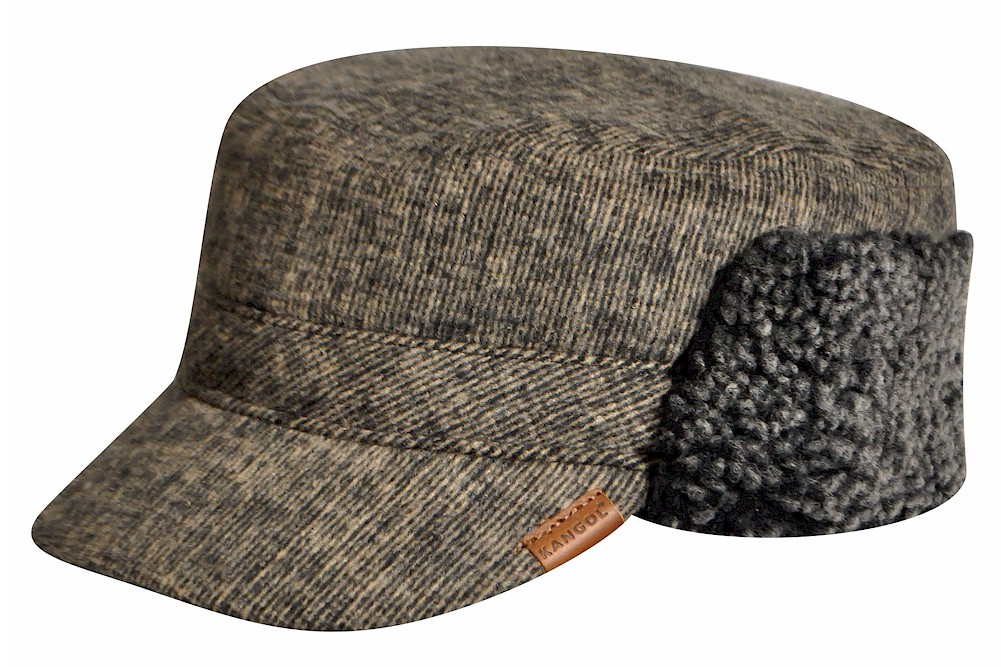 Kangol Men s Shearling Trapper Cap Winter Army Hat d03bc460061