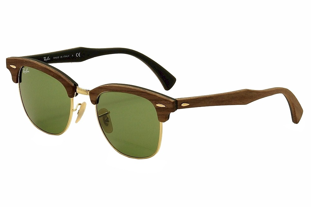 Ray Ban Men s Clubmaster Wood 3016M 3016 M RayBan Wayfarer Sunglasses c0bd3ec951