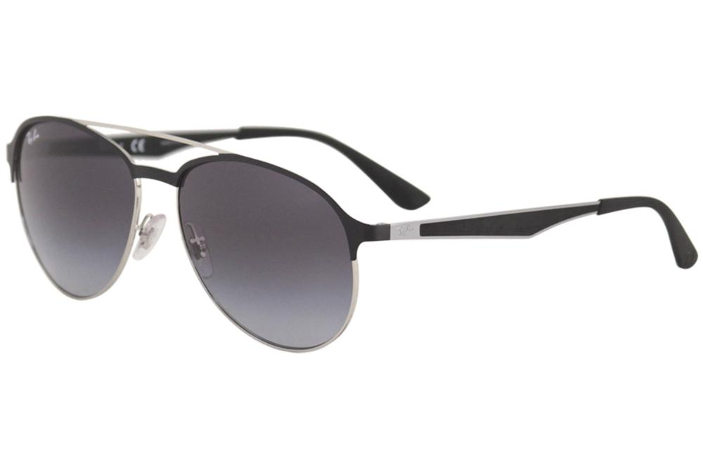 c05aeae0ee Ray Ban RB3606 RB 3606 9091 8G Matte Black Silver Pilot RayBan ...