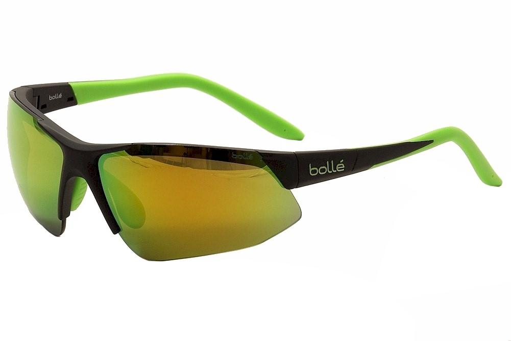 Image of Bolle Men s Breakaway Sport Sunglasses Matte Black/Green/Green Polarized - 11848