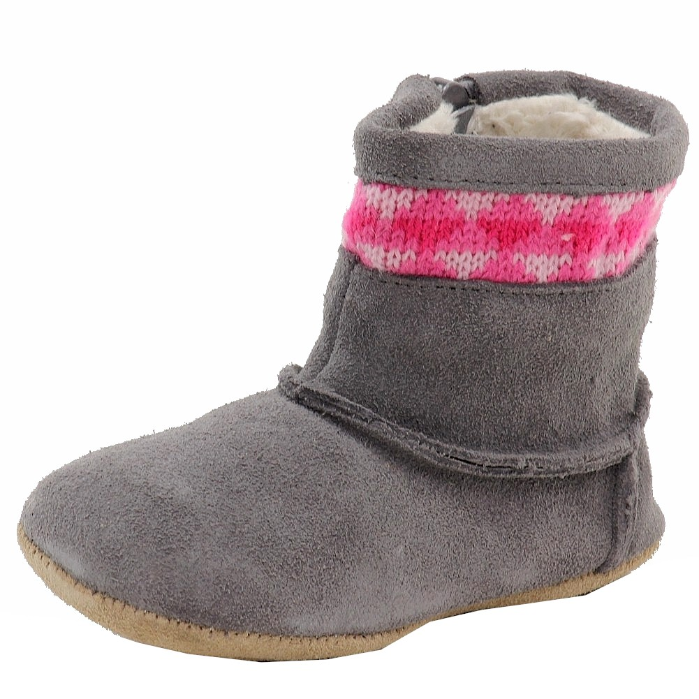 Image of Robeez Mini Shoez Infant Girl s Knitted Kelly Fashion Suede Boots Shoes