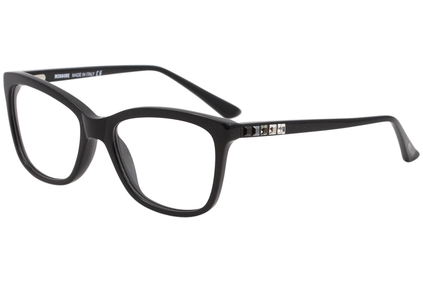 Image of Missoni Women's Eyeglasses MI289V MI/289/V Full Rim Optical Frame - Black - Lens 54 Bridge 17 Temple 135mm