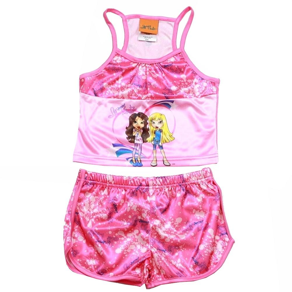 Lil Bratz Pink 2 Piece Pajama Sleepwear Set Tank Top Shorts 101646 LL0072