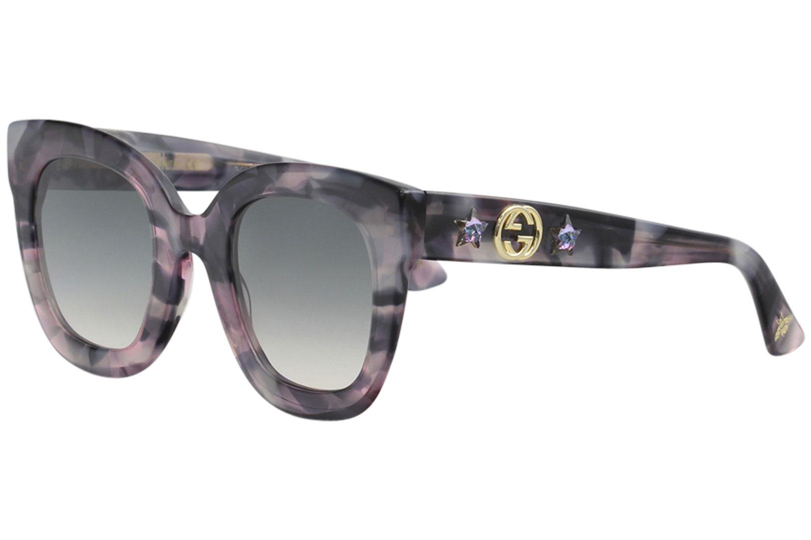 0a17975e92e Gucci Women s GG0208S GG 0208 S Fashion Square Sunglasses