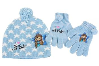 Lil' Bratz Girl's Knit Winter Hat & Gloves Set Sz. 4-6X