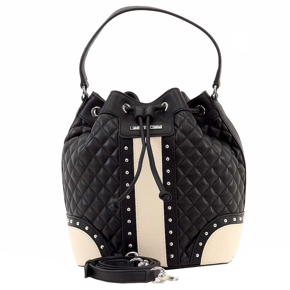 Love Moschino Women S Quilted Amp Studded Leather Drawstring