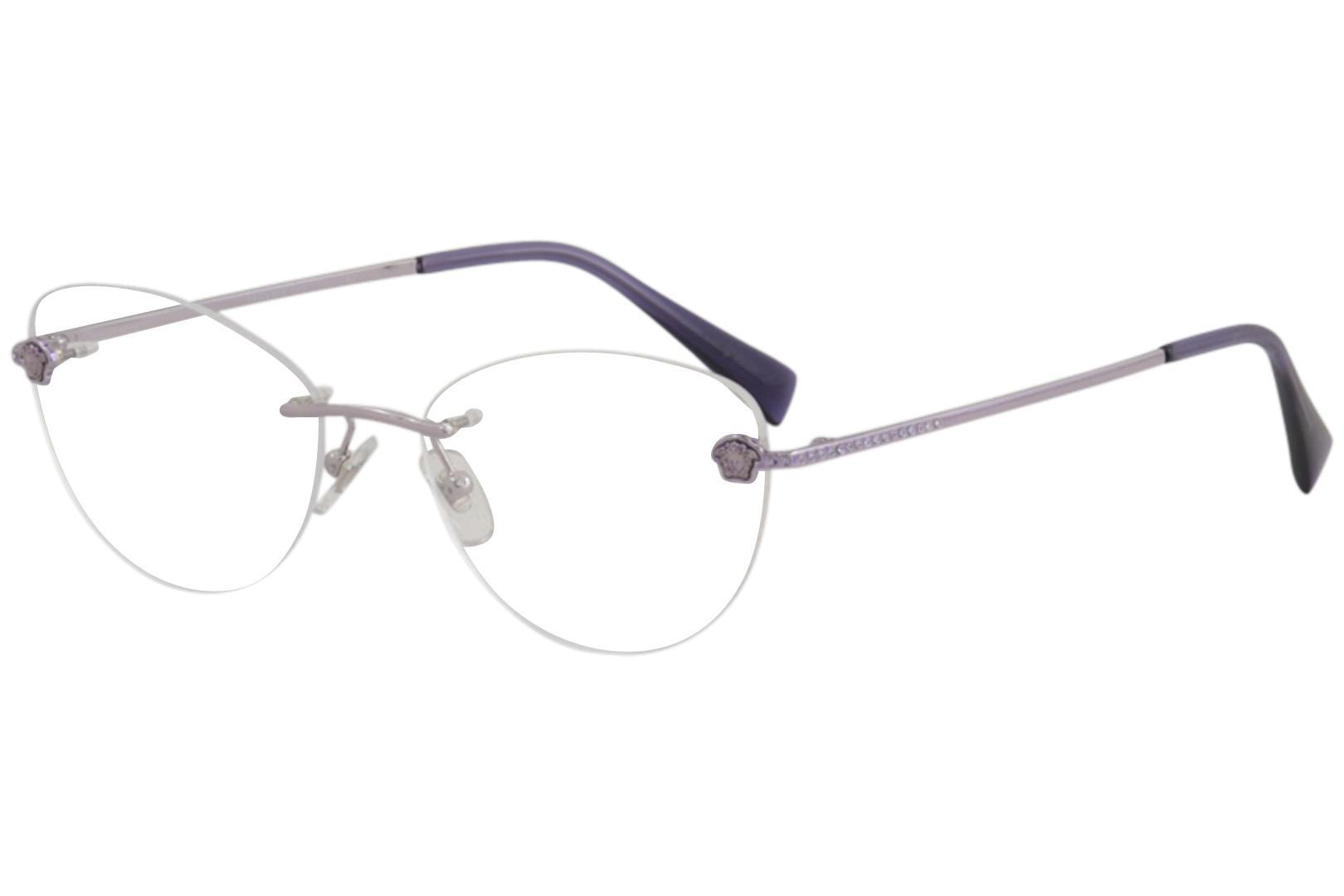 1c6f43bd40 Versace Eyeglasses VE1248B VE 1248 B 1029 Violet Rimless Optical ...