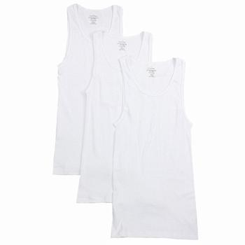 Calvin Klein Men's 3-Pc Cotton Classic Fit Basic Tank Top Shirt UPC: