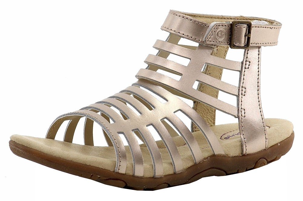 Image of Stride Rite Girl's SRT Preschool Katerina Gladiator Sandals Shoes - Silver - 10   Toddler