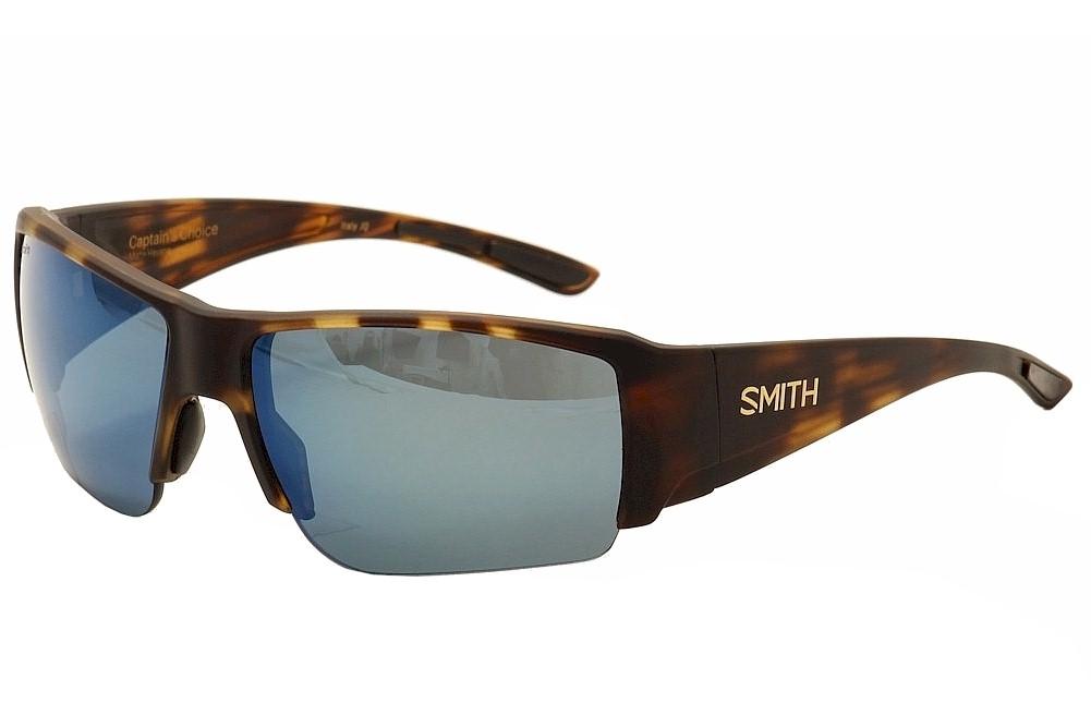 Image of Smith Optics Men's Captain's Choice Wrap Sunglasses - Brown - Medium Fit