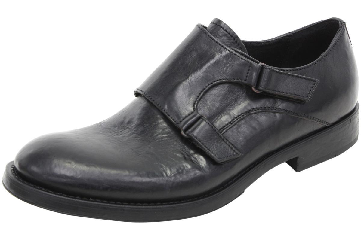 Image of Bacco Bucci Men's Pace Double Monk Strap Loafers Shoes - Black - 8.5 D(M) US