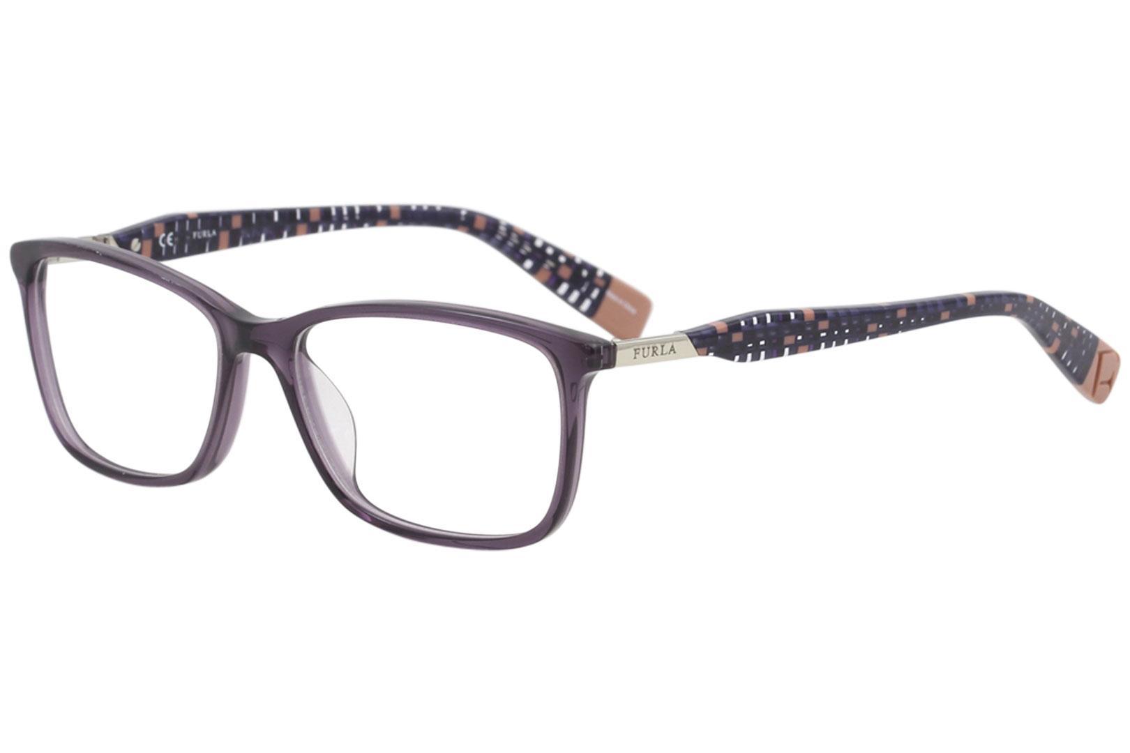 Image of Furla Women's Eyeglasses VFU028 VFU/028 0916 Purple Full Rim Optical Frame 53mm - Purple   0916 - Lens 53 Bridge 16 B 36 ED 67 Temple 135mm