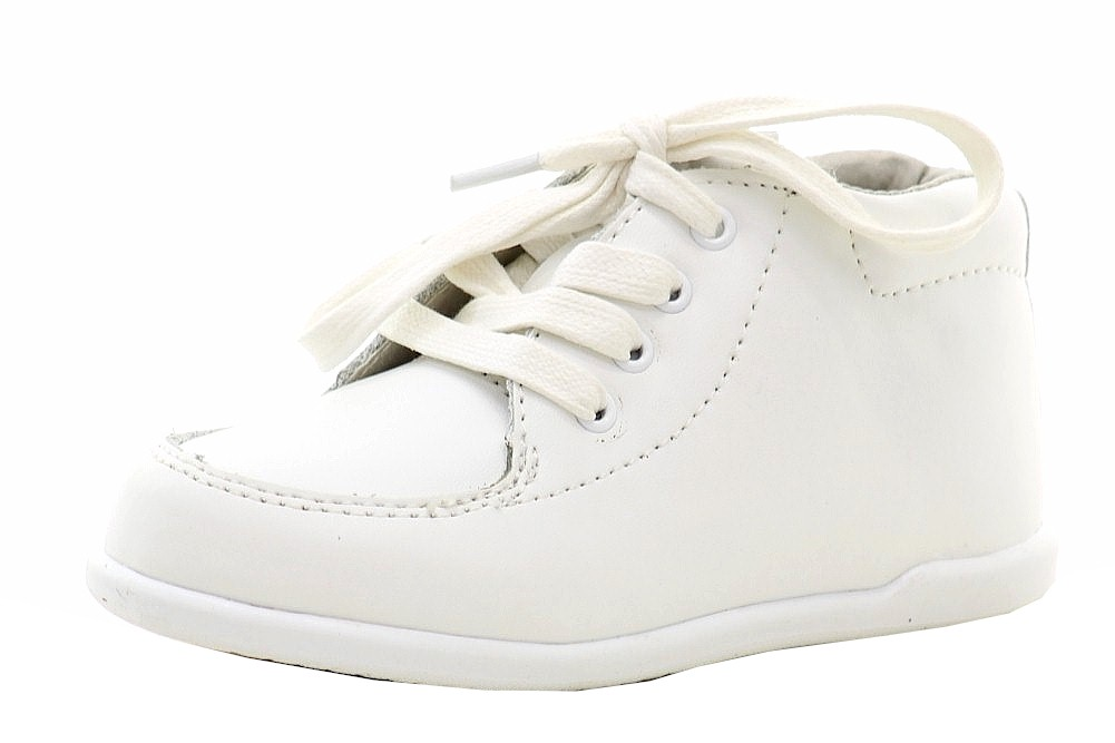 Image of Josmo Smart Step Infant Boy's First Walkers Fashion Oxfords Shoes - White - 4   Toddler