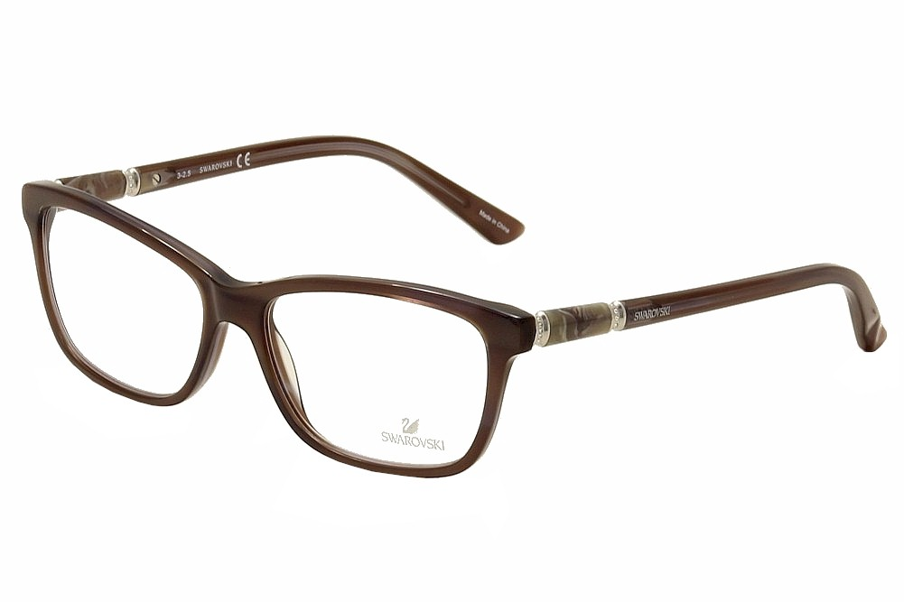 Image of Daniel Swarovski Women's Eyeglasses Flame SK5158 SK/5158 Full Rim Optical Frame - Grey - Lens 55 Bridge 15 Temple 140mm
