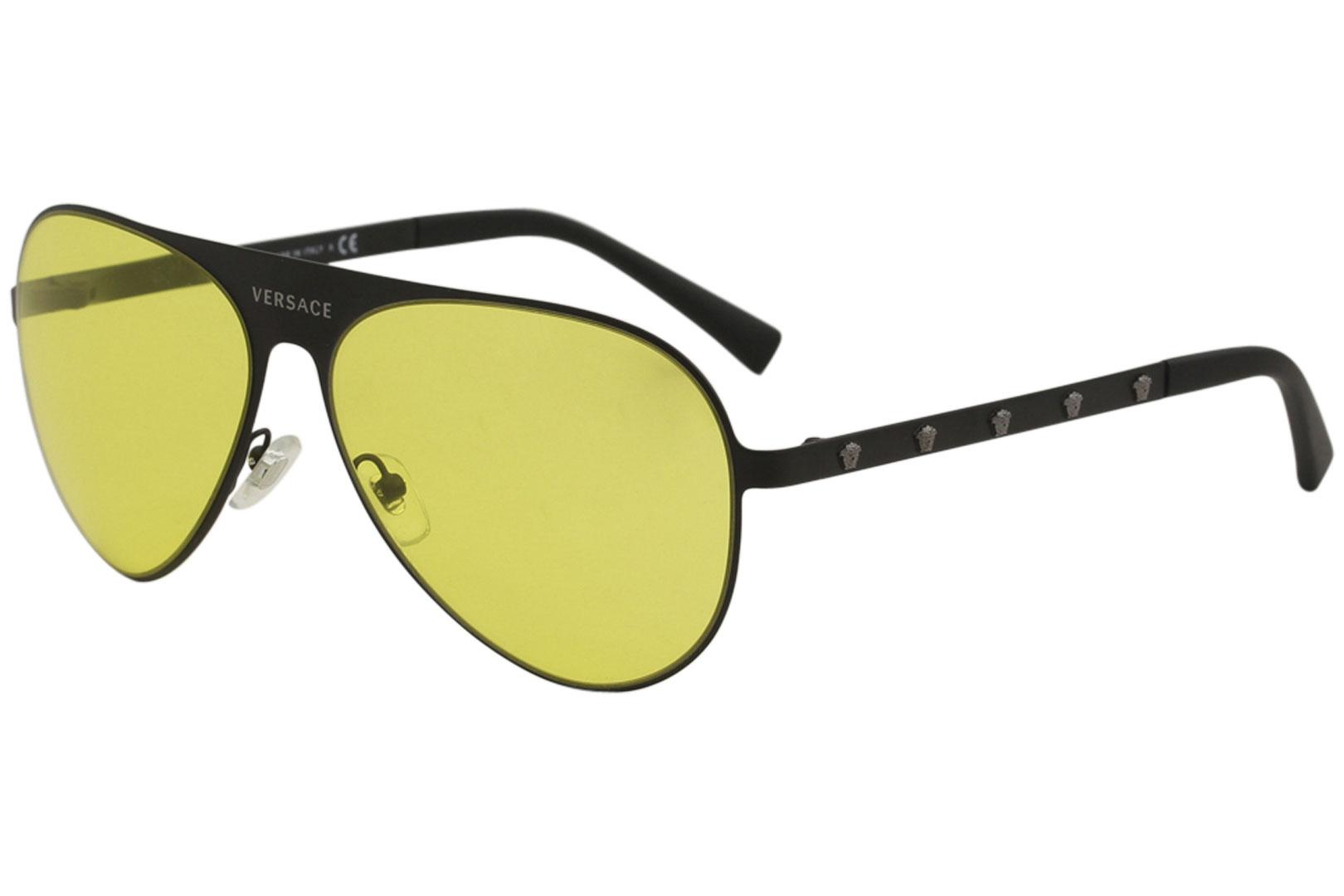 9cbd432aaec6 Versace Men s VE2189 VE 2189 Fashion Pilot Sunglasses