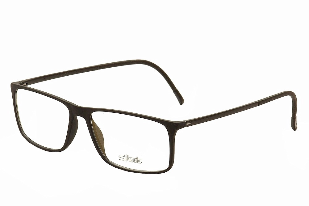 Silhouette Men's Eyeglasses SPX Illusion Shape 2892 Full Rim Optical Frame - Black   6050 - Lens 54 Bridge 14 Temple 145mm -  SPX Illusion; 2892