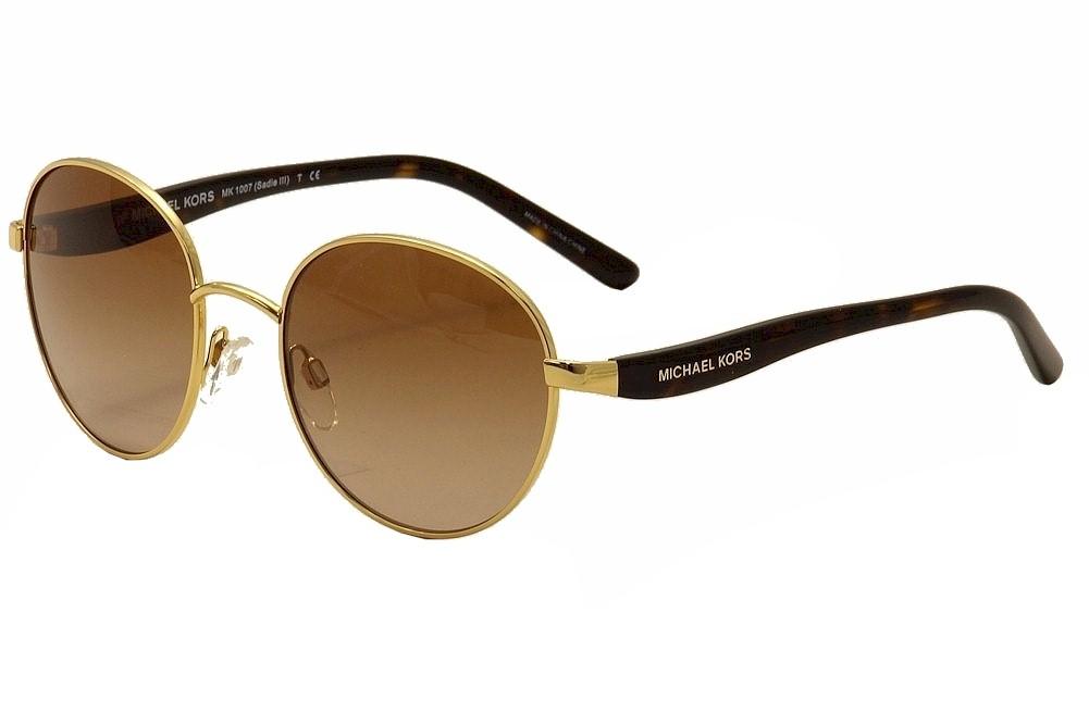 d6fb655b3566 Michael Kors Women's Sadie III MK1007 MK/1007 Round Sunglasses