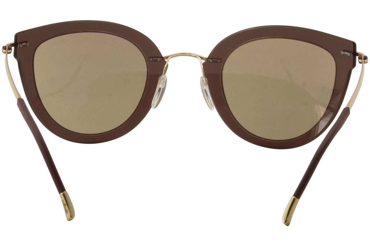 84582300ad75 Silhouette Women's Explorer Line Extension 8155 Cat Eye Fashion Sunglasses  by Silhouette. 12345