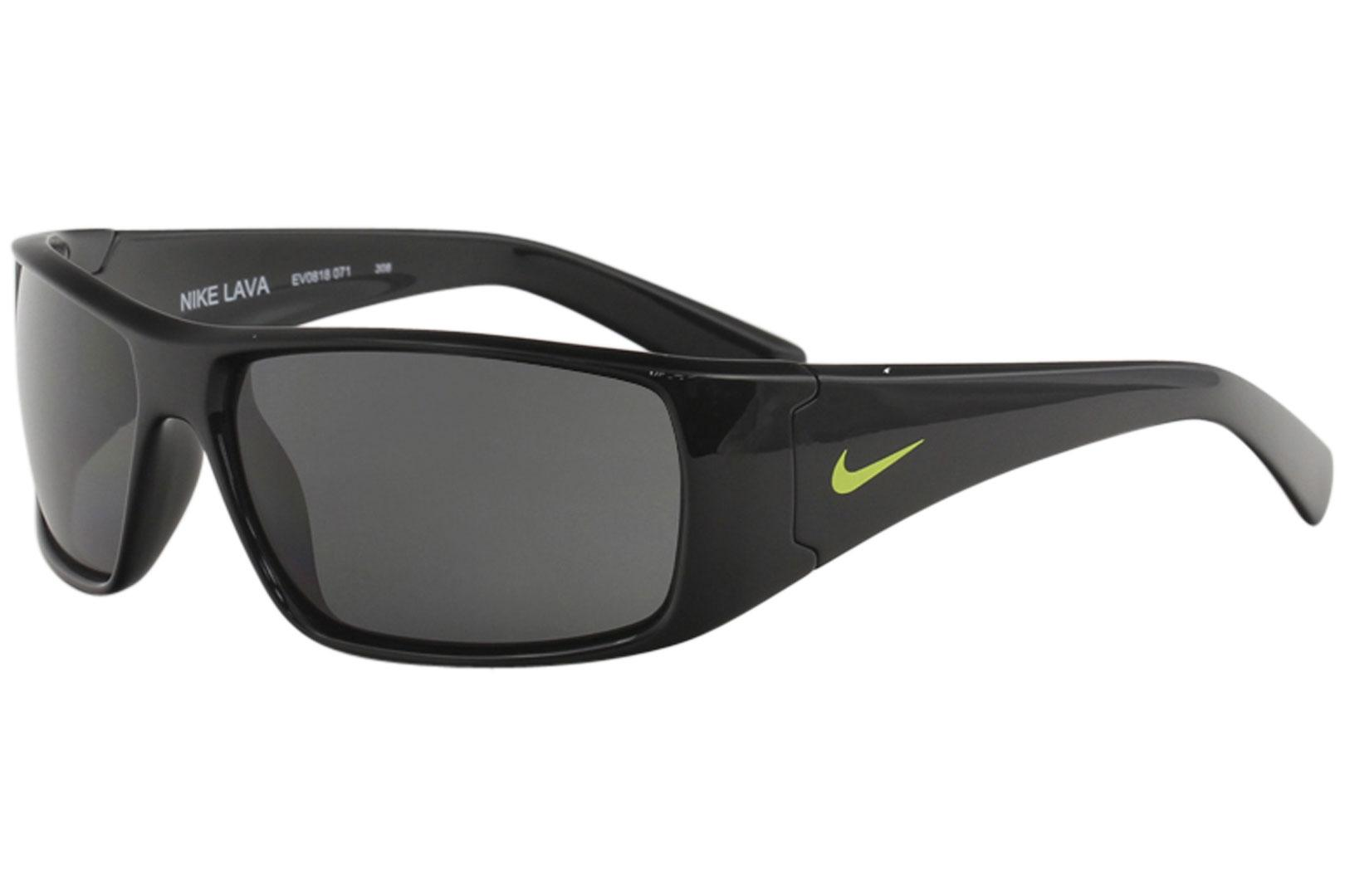 d1f14aaec15ba Nike Men's Lava Sport Rectangle Wrap Sunglasses