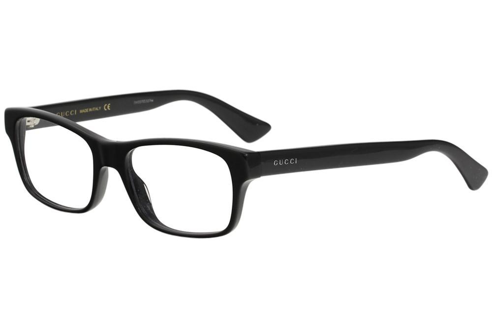 d88457582d4 Gucci Men s Eyeglasses GG0006O GG 0006 O 001 Black Transp. Optical ...