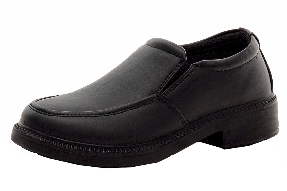 Image of French Toast Boy's Evan School Uniform Slip On Loafers Shoes - Black - 1   Little Kid