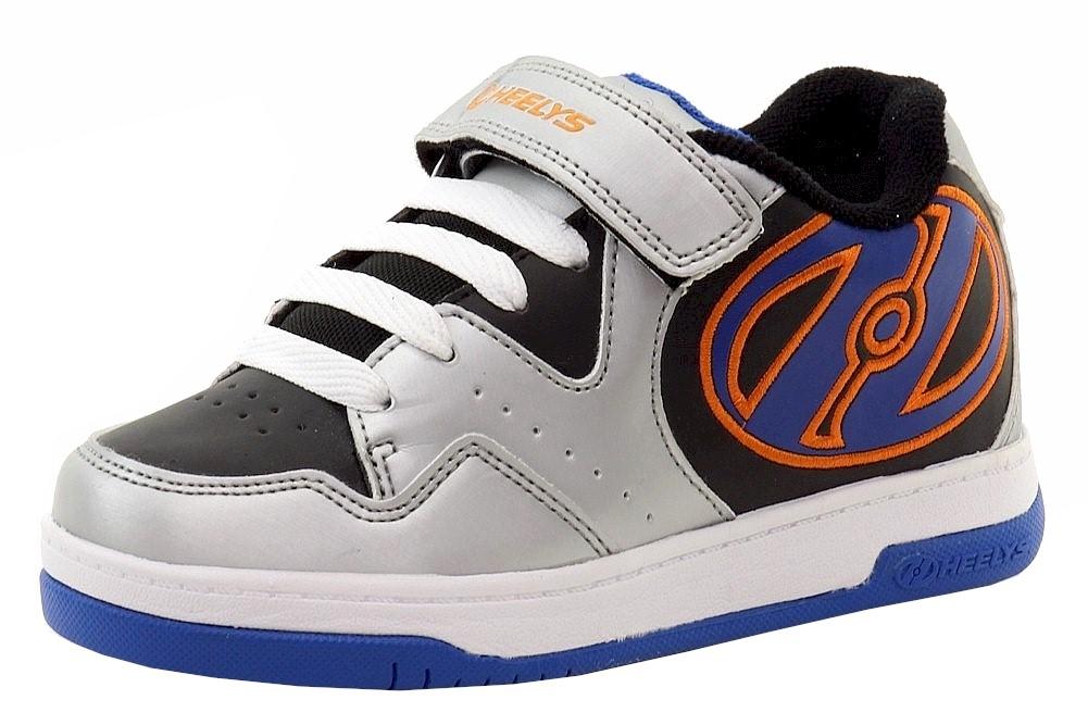Image of Heelys Boy's Hyper Skate Sneakers Shoes - Silver - 8 M US Big Kid