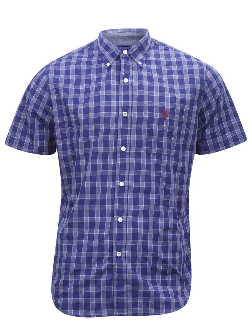 697a26cf5 U.S. Polo Association Men s Short Sleeve Check Plaid Button Down Shirt