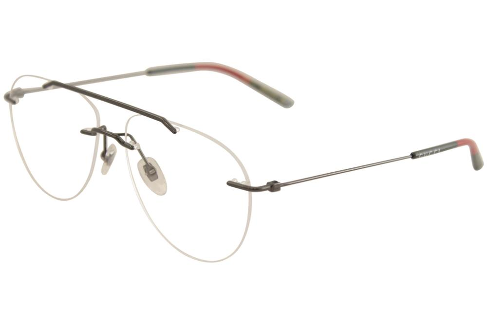 2d91637f11 Gucci Men s Eyeglasses GG0398O GG 0398 O Rimless Optical Frame
