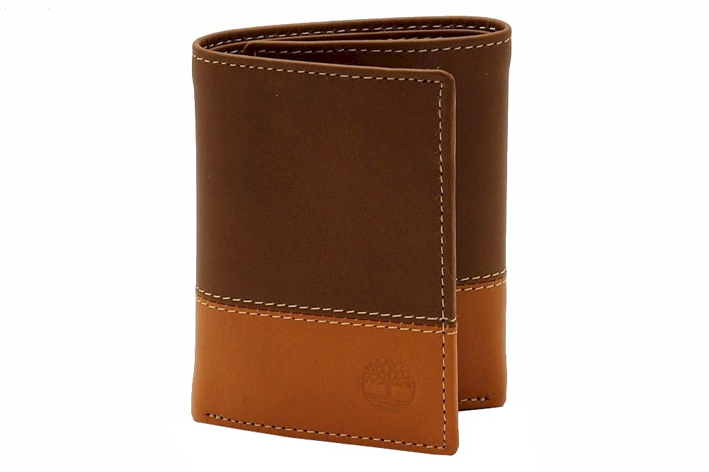 Timberland Men S Contrast Leather Trifold Wallet