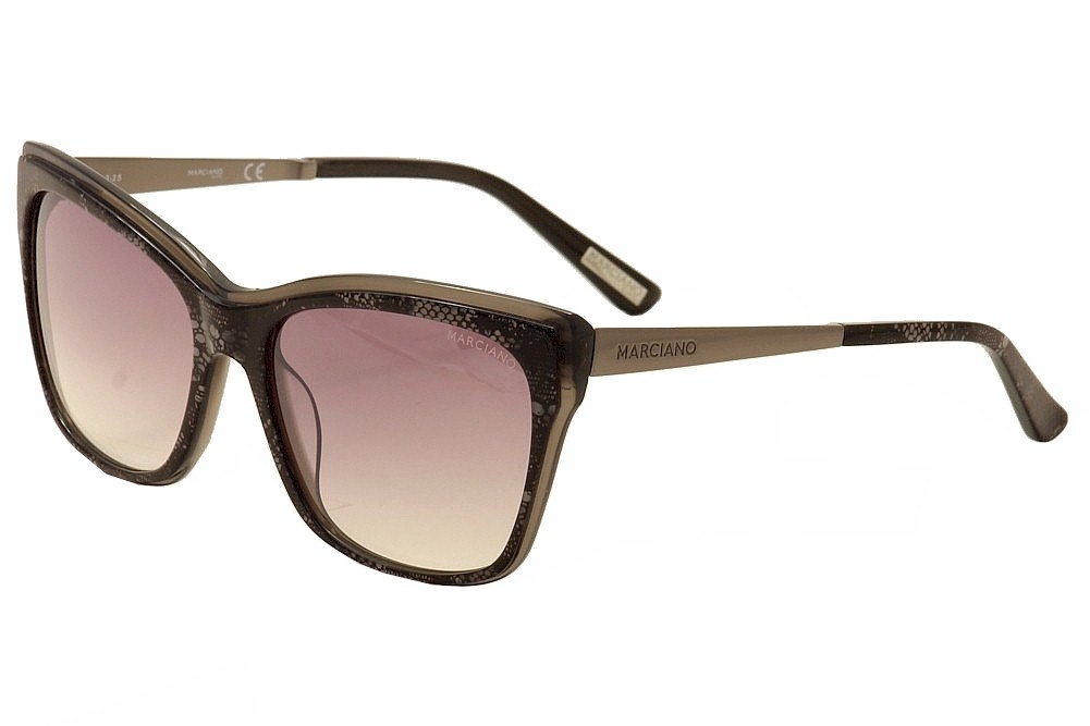 Image of Guess By Marciano Women's GM0739 GM/0739 Fashion Cat Eye Sunglasses - Black - Lens 57 Bridge 17 Temple 135mm
