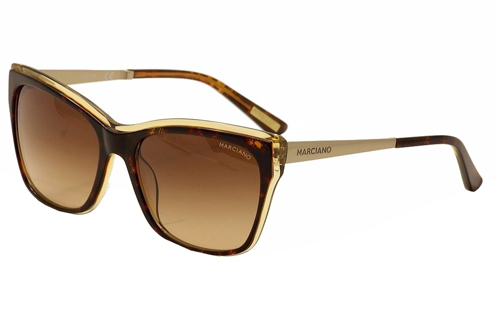 Image of Guess By Marciano Women's GM0739 GM/0739 Fashion Cat Eye Sunglasses - Brown - Lens 57 Bridge 17 Temple 135mm
