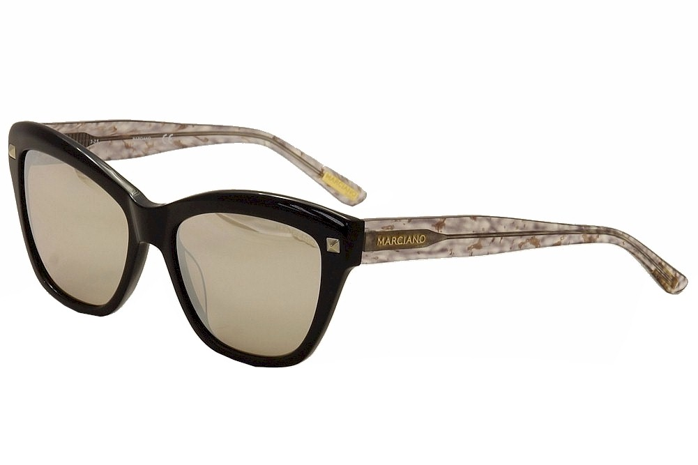 Image of Guess By Marciano Women's GM0741 GM/0741 Fashion Cat Eye Sunglasses - Black - Lens 56 Bridge 17 Temple 140mm
