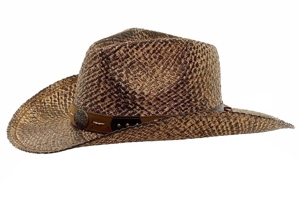 Henschel Men s Walker Austrail-Hand Stained Raffia Western Hat 6d5eb63d4f14