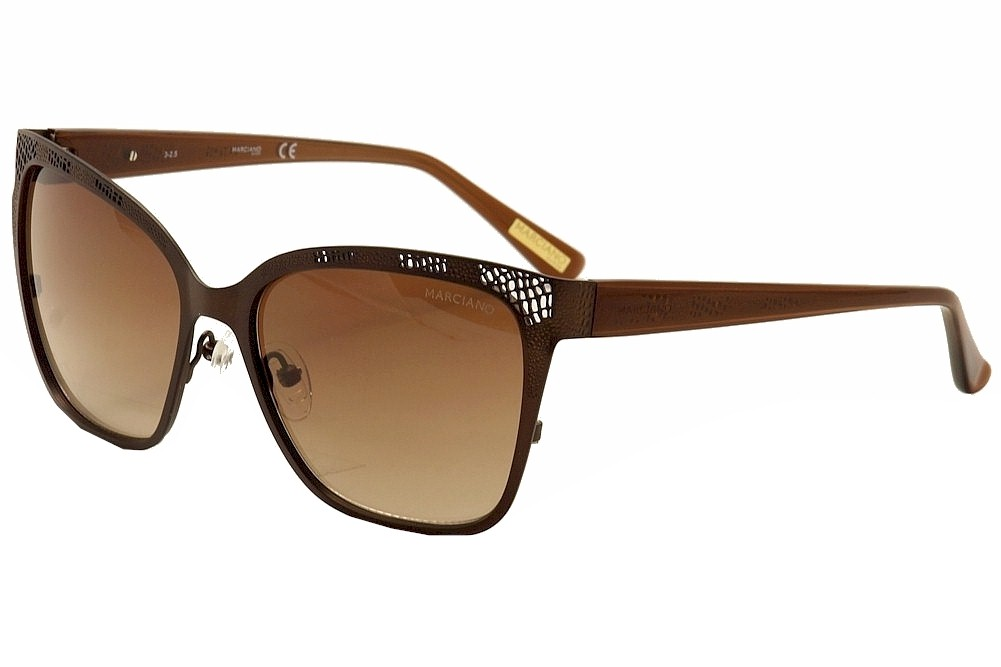 Image of Guess By Marciano Women's GM0742 GM/0742 Fashion Sunglasses - Brown - Lens 57 Bridge 17 Temple 135mm