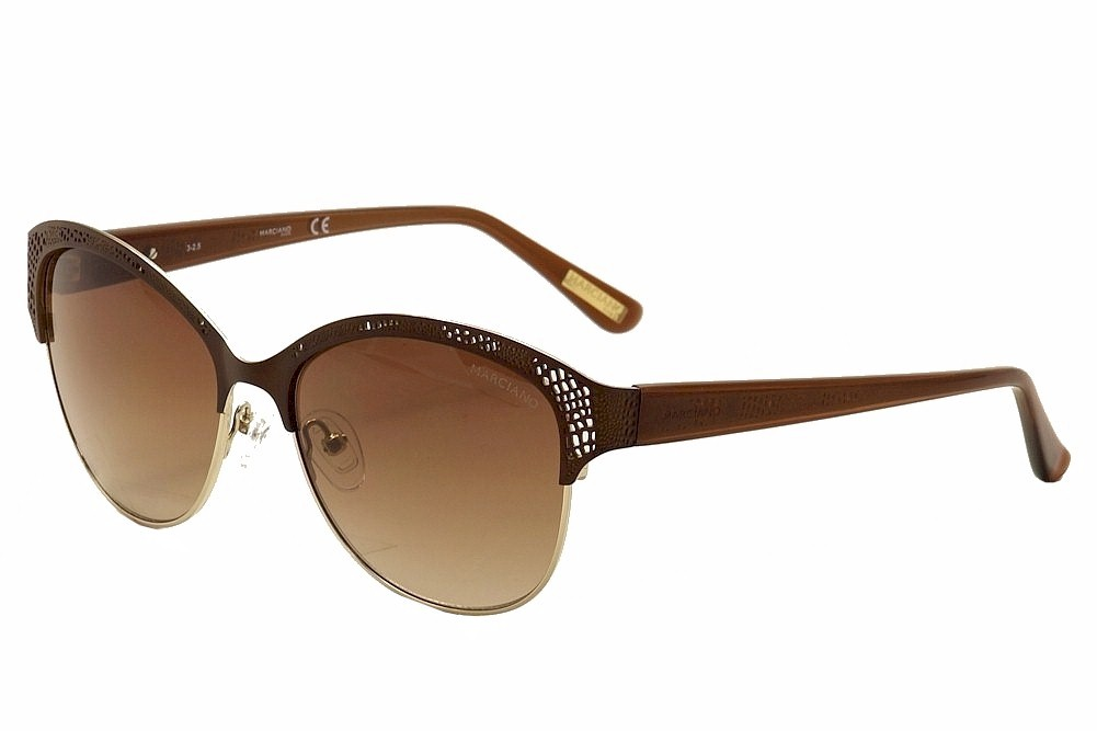 Image of Guess By Marciano Women's GM0743 GM/0743 Fashion Sunglasses - Brown - Lens 56 Bridge 16 Temple 135mm