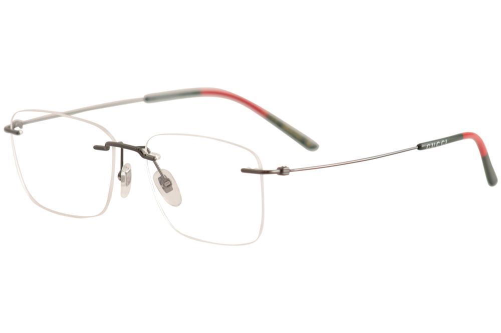 f4f94c5bfbff Gucci Men's Eyeglasses GG0399O GG/0399/O Rimless Optical Frame by Gucci