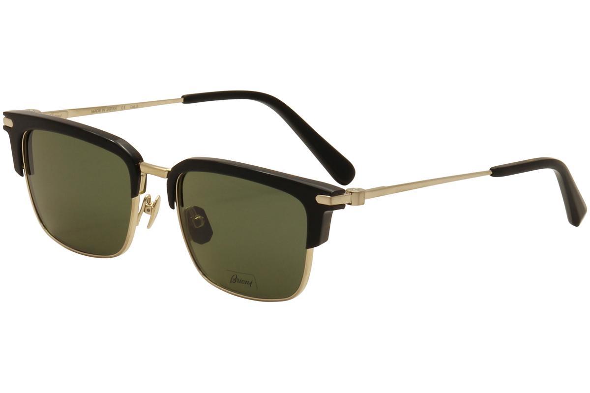 Image of Brioni Men's BR 0007S 0007/S Fashion Wayfarer Sunglasses - Black - Lens 53 Bridge 18 Temple 145mm