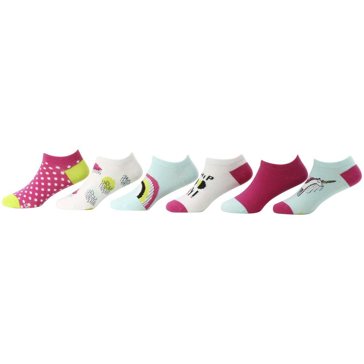 Stride Rite Girls Comfort Seam No Show Socks-8 Pack
