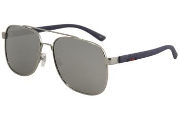 Gucci Men's GG0422S GG/0422/S Fashion Pilot Sunglasses