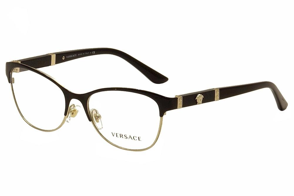 Versace Women\'s Eyeglasses VE 1233Q 1233/Q Full Rim Optical Frame