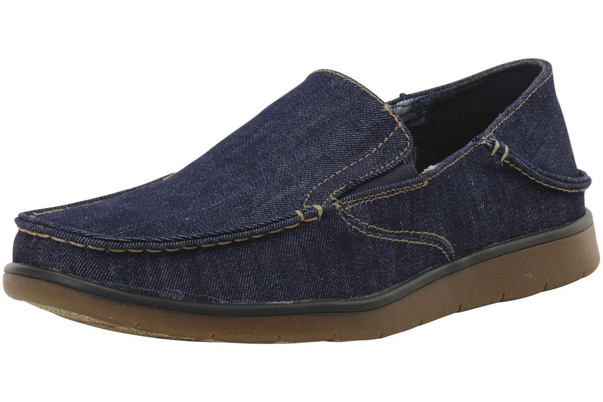 Image of GBX Men's Entro Denim Loafers Shoes - Blue - 10 D(M) US