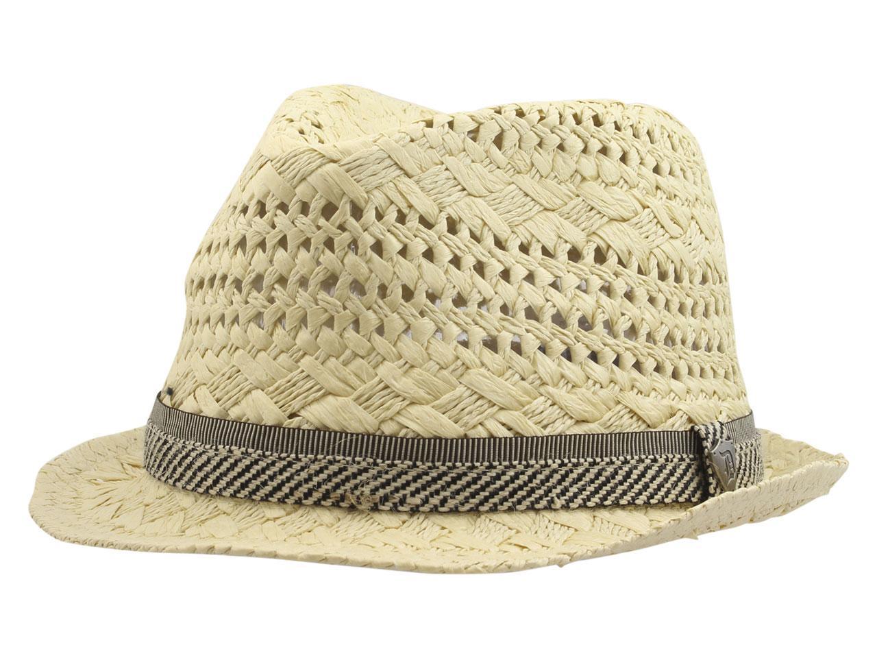 Dorfman Pacific Men s Fancy Weave Toyo Fedora Hat 636a1e70f49