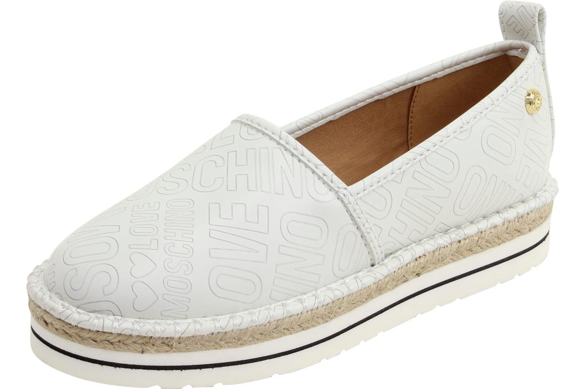 Love Moschino Women's Embossed Logo Espadrilles Loafers Shoes