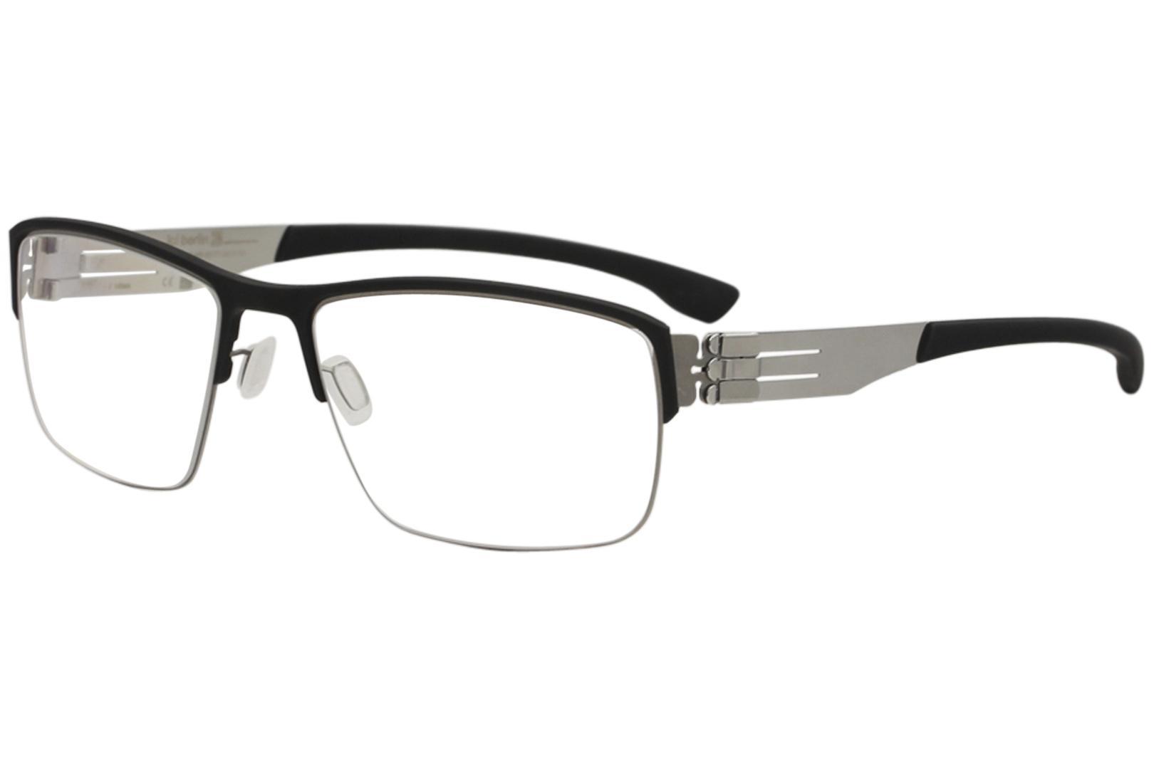 Image of Ic! Berlin Men's Eyeglasses Max S. Full Rim Optical Frame - Black - Lens 54 Bridge 19 Temple 145mm