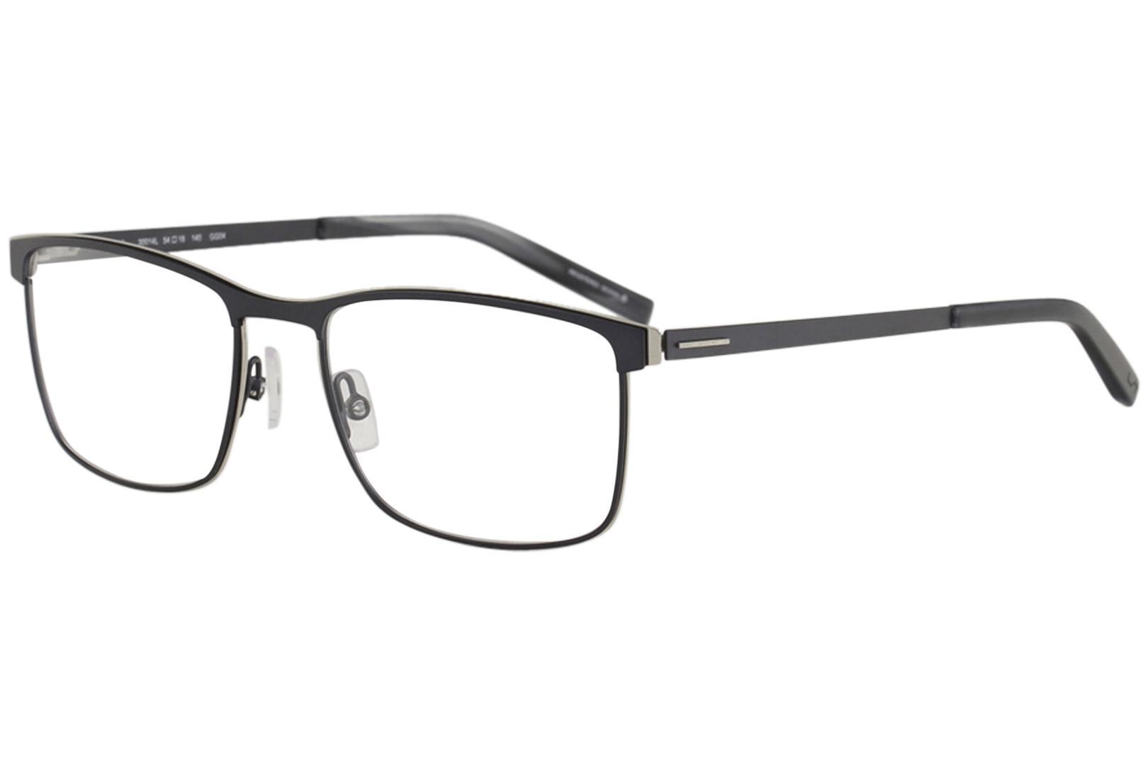Image of Morel Men's Eyeglasses Lightec 30014L 30014/L Full Rim Optical Frame - Dark Grey   GG04 - Lens 54 Bridge 18 Temple 140mm
