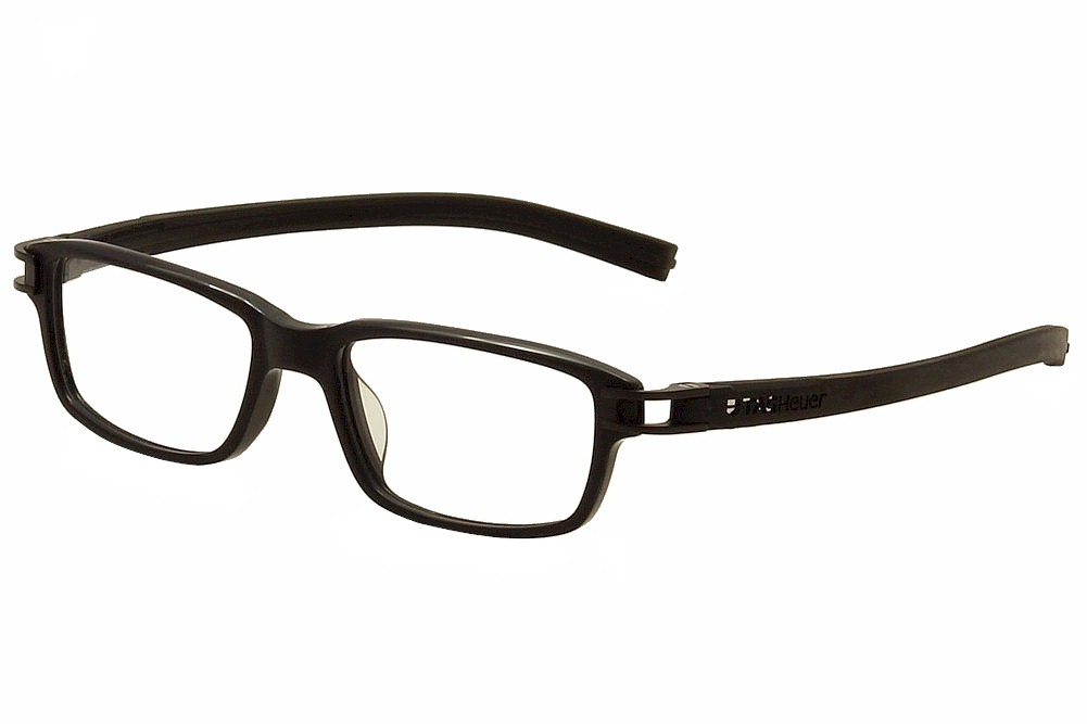 Image of Tag Heuer Men's Eyeglasses Track S TH7602 TH/7602 Full Rim Optical Frame - Black   007 - Lens 52 Bridge 17 Temple 145mm