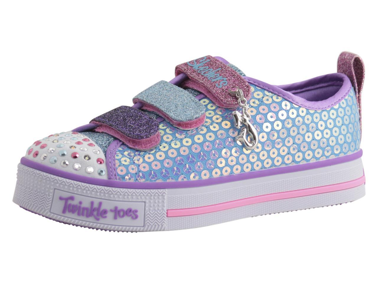 441d77c9d5bed Skechers Little Girl's Twinkle Lite Mermaid Magic Light Up Sneakers Shoes